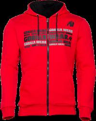 Gorilla Wear Bowie Mesh Zipped Hoodie - Red - L