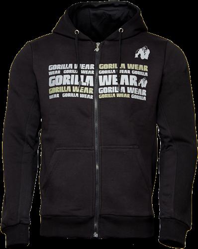 Gorilla Wear Bowie Mesh Zipped Hoodie - Zwart