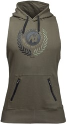 Gorilla Wear Manti Sleeveless Hoodie - Army Green - S