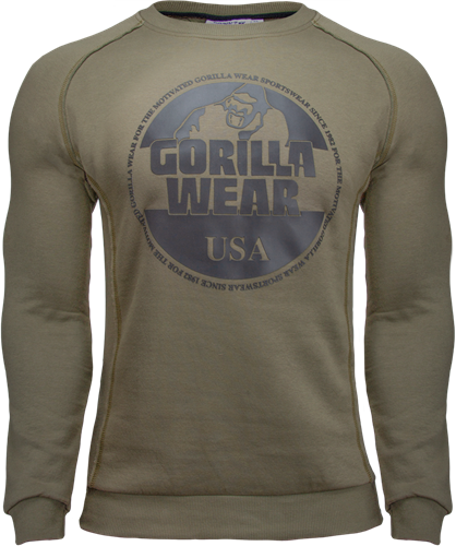 Gorilla Wear Bloomington Crewneck Sweatshirt - Legergroen