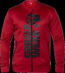 Gorilla Wear Ballinger Track Jacket - Red/Black - 5XL