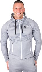 Gorilla Wear Bridgeport Zipped Hoodie - Silverblue - 4XL