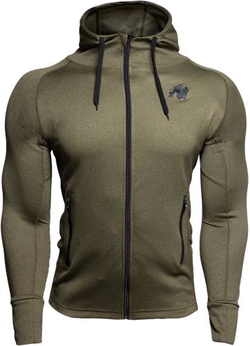 Gorilla Wear Bridgeport Zipped Hoodie - Legergroen