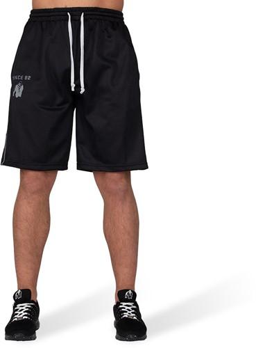 Gorilla Wear Functional Mesh Shorts - Zwart/Wit-2