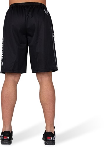 Gorilla Wear Functional Mesh Shorts - Zwart/Wit-3