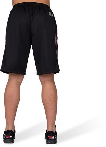 Gorilla Wear Functional Mesh Shorts - Zwart/Rood-3