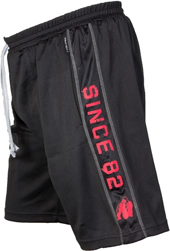 Gorilla Wear Functional Mesh Short (Black/Red)-2