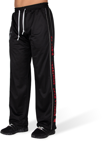 Gorilla Wear Functional Mesh Trainingsbroek - Rood/Zwart