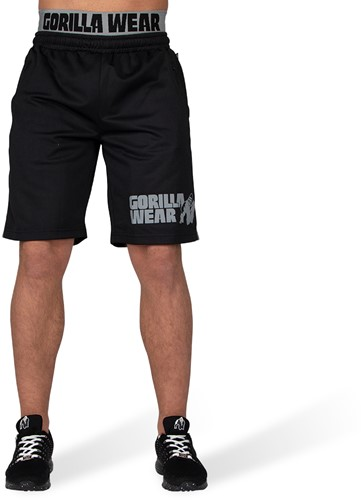 Gorilla Wear California Mesh Shorts - Zwart/Grijs-2