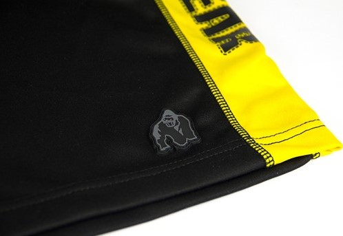 Gorilla Wear Track Shorts Black/Yellow-2