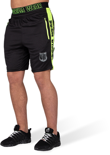 Gorilla Wear Shelby Shorts - Zwart/Neon Groen