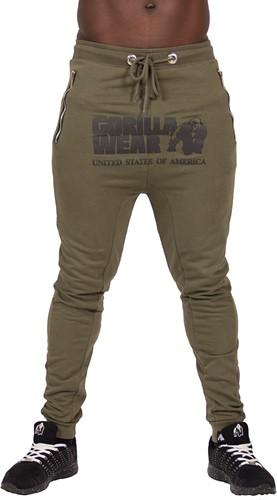Gorilla Wear Alabama Drop Crotch Joggers - Army Green - L
