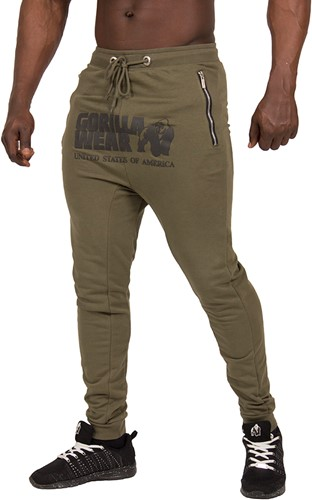 Gorilla Wear Alabama Drop Crotch Joggers - Army Green - S-3