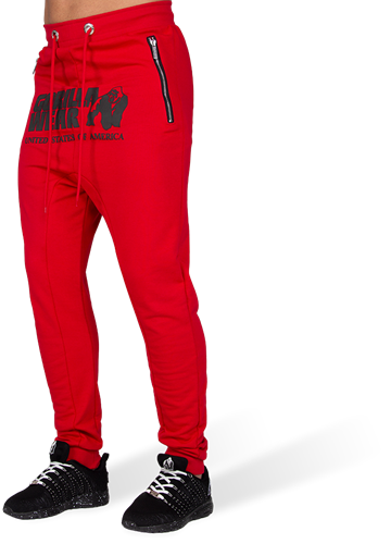 Gorilla Wear Alabama Drop Crotch Joggingbroek - Rood