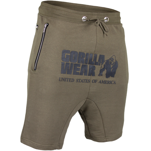 Gorilla Wear Alabama Drop Crotch Shorts - Army Green-3