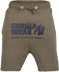 Gorilla Wear Alabama Drop Crotch Shorts - Army Green - 2XL