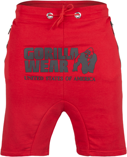 Gorilla Wear Alabama Drop Crotch Shorts - Red-2