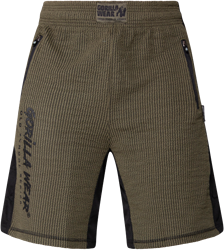 Gorilla Wear Augustine Old School Shorts - Army Green - 2XL/3XL