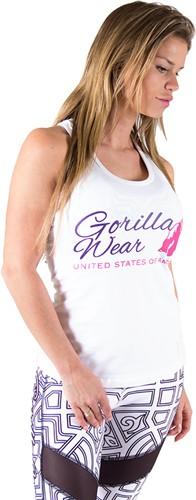 Gorilla Wear Womens Classic Tank Top White-2