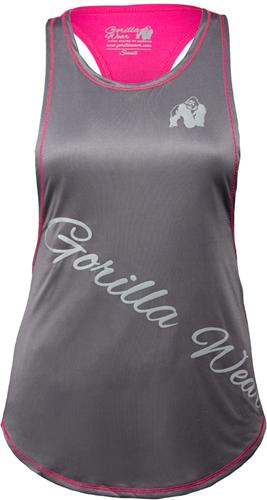 Gorilla Wear Florida Stringer Tank Top - Grijs/Roze