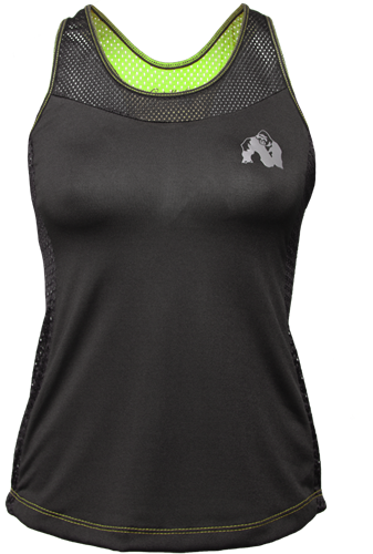 Gorilla Wear Marianna Tank Top - Zwart/ Neon Groen