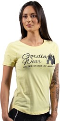 Gorilla Wear Lodi T-shirt - Light Yellow - XS