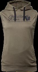 Gorilla Wear Selma Sleeveless Hoodie - Army Green - XS