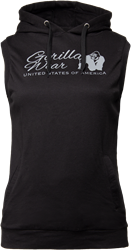 Gorilla Wear Selma Sleeveless Hoodie - Black - S