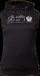 Gorilla Wear Selma Sleeveless Hoodie - Black - XS