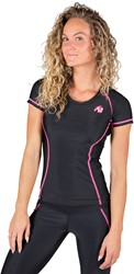 Gorilla Wear Carlin Compression Short Sleeve Top - Black/Pink - M