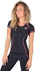 Gorilla Wear Carlin Compression Short Sleeve Top - Black/Pink - S