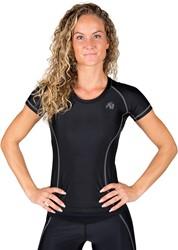 Gorilla Wear Carlin Compression Short Sleeve Top - Black Gray - XS