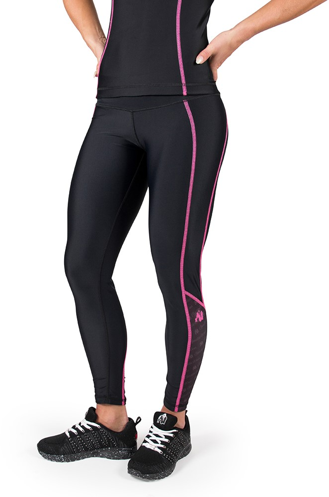 Gorilla Wear Carlin Compression Tight - Black/Pink - XL ...