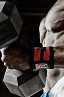 Gorilla Wear Wrist Wraps Pro - Zwart/Rood-3