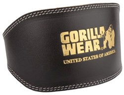 Gorilla Wear Full Leather padded belt - L/XL