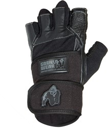 Gorilla Wear Dallas Wrist Wrap Gloves - Black - L