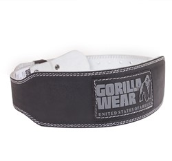 Gorilla Wear 4 Inch Padded Leather Belt - S/M