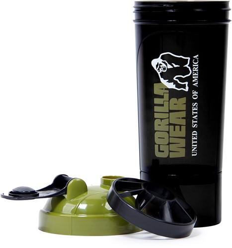 Gorilla Wear Compacte Shaker - Zwart/Legergroen-3