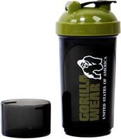 Gorilla Wear Compacte Shaker - Zwart/Legergroen-2