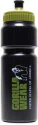 Gorilla Wear Classic Sports Bottle - Black/Army Green 750ML