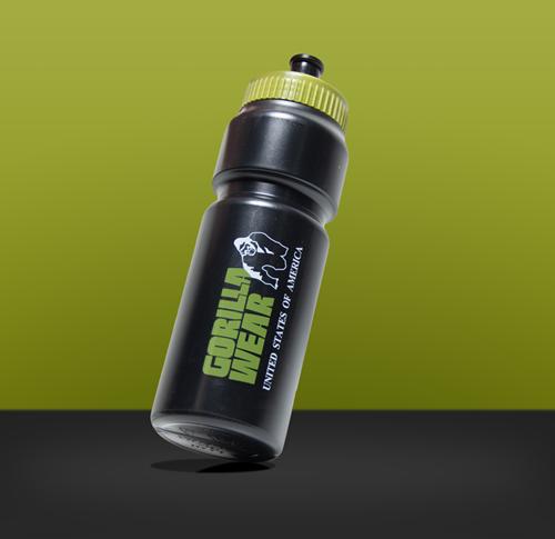 Gorilla Wear Classic Sports Bottle - Zwart/Legergroen 750ML-3