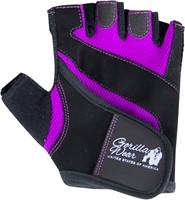 Gorilla Wear Womens Fitness Gloves Black/Purple-2