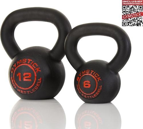 Gymstick Pro Neopreen Kettlebell - Zwart - Met Online Trainingsvideo's - 24 kg