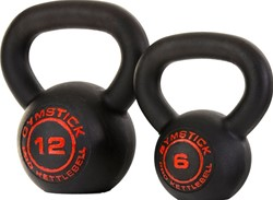 Gymstick Pro Neopreen Kettlebell - Zwart - Met Online Trainingsvideo's - 4kg