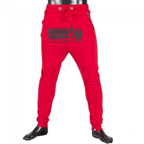 Gorilla Wear Alabama Drop Crotch Joggers - Red-2