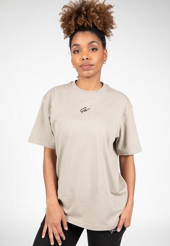 Gorilla Wear Bixby Oversized T-Shirt - Beige