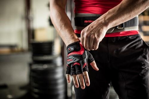 Harbinger FlexFit Wash&Dry Fitness Handschoenen Black/Red-2