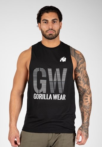 Gorilla Wear Dakota Mouwloos T-Shirt - Zwart