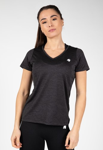 Gorilla Wear Elmira V-Hals T-Shirt - Zwart