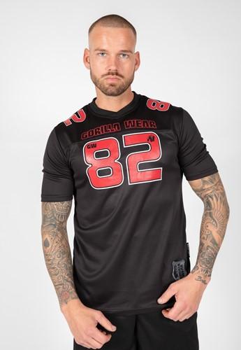 Gorilla Wear Fresno T-Shirt - Zwart/Rood